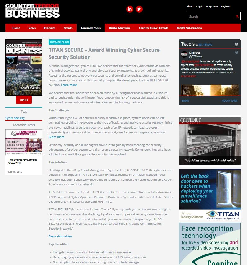 Counter Terror Business Article - editorial content