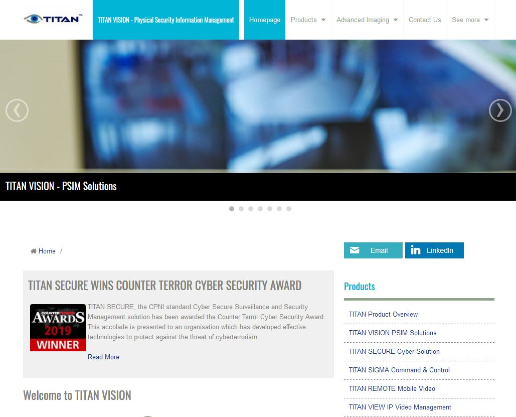 TITAN VISION Website - design, content management & SEO